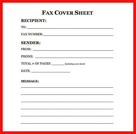 Fax Cover Sheet Template Open Office by Printable Fax Cover Sheet Apa Exle