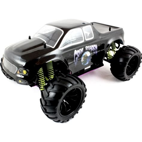 rc nitro monster truck 1 10 nitro rc monster truck grim reaper