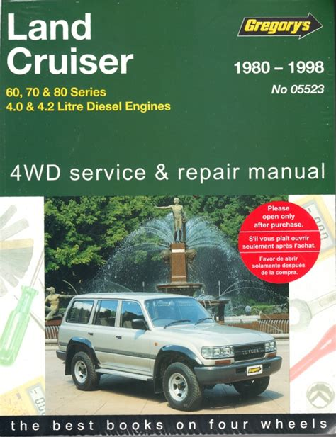 service repair manual free download 1994 toyota land cruiser head up display toyota landcruiser diesel 60 70 80 series repair manual 1980 1998 sagin workshop car manuals