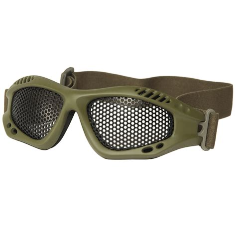 metal tactical mil tec tactical metal wire goggles olive goggles 1st