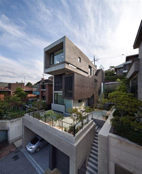 three level family residence in south korea h