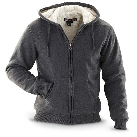 Fleece Lined Zip Hoodie kenpo 174 micro fleece lined zip front hoodie 199156