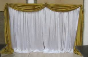 backdrop fabric event decorating company gold and white birthday community center lake wales florida
