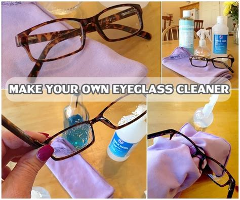 make your own eyeglass cleaner diy craft projects