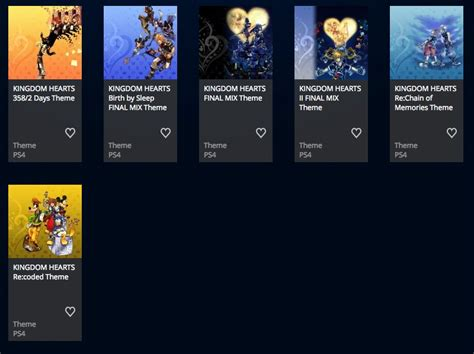 themes kingdom themetick kingdom hearts hd 1 5 2 5 remix has multiple ps4 themes