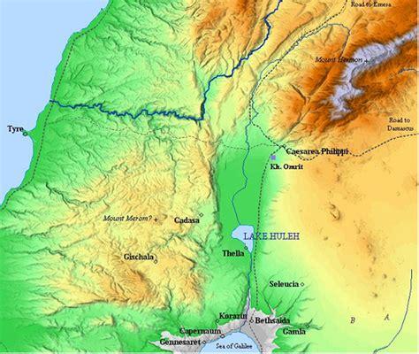 caesarea philippi map the temple of caesar augustus at caesarea philippi