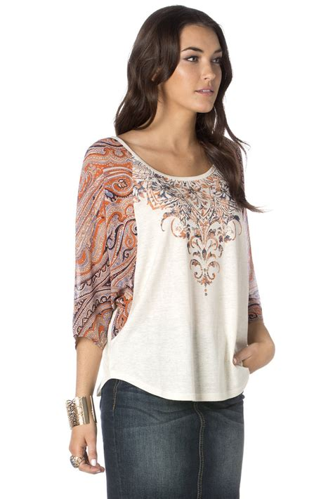 Swily Top swirl floral top miss me