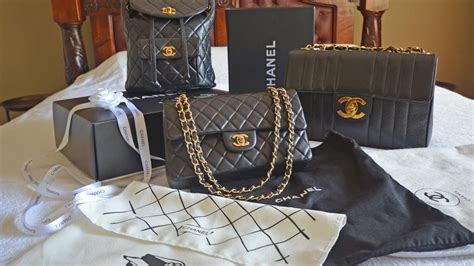 review  chanel bag collection including vintage chanel