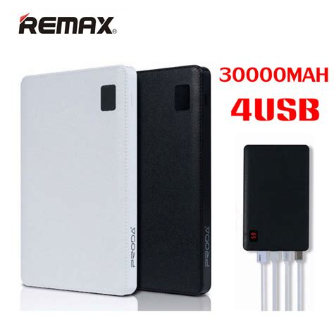 Power Bank Original original remax mobile power bank 30000 mah 4 usb external