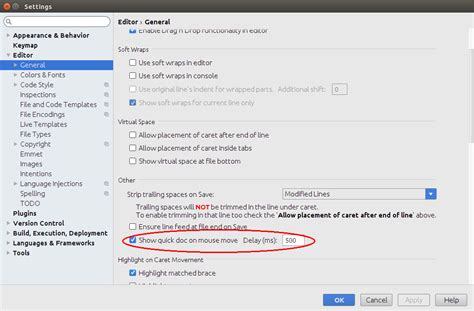 Android Tooltip by Intellij Idea Android Studio Javadoc Is Empty On Hover