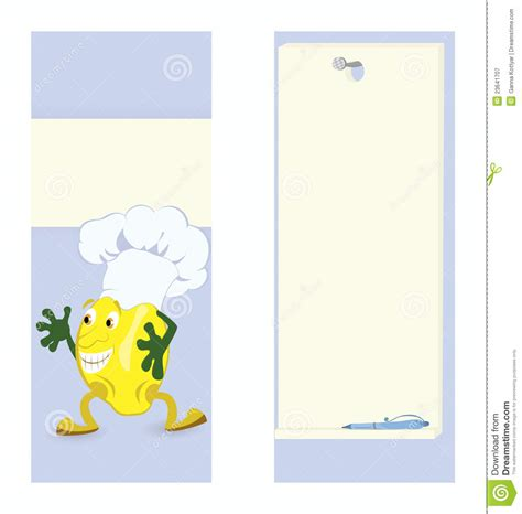 lemon cartoon character card template royalty free stock