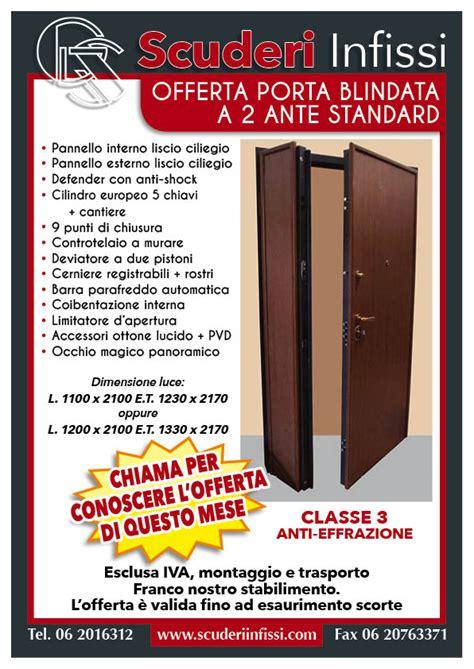 porte blindate offerte offerte porta blindata 2ante standard scuderi infissi