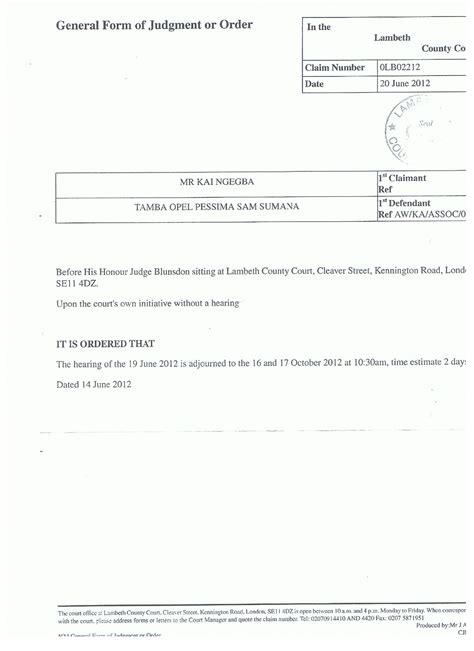 This Is An Order From The Court To Send Up The Records On A For Review Kdda Uk Documentation Correspondence