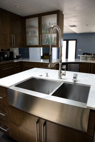 stainless steel farmhouse sink modern kitchen sinks