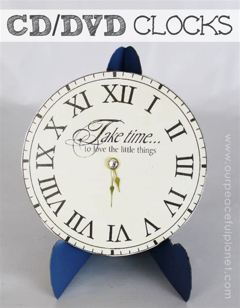 clock mechanisms for craft projects make a clock from a dvd clock faces and upcycle