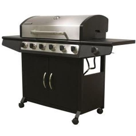 Small Patio Gas Grill Home Depot Brinkmann 6 Burner Propane Gas Grill With Side Burner