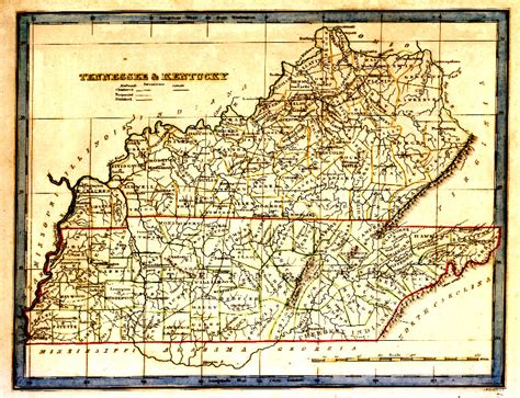 map kentucky and tennessee tngenweb tennessee kentucky 1835 map