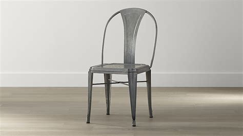 metal dining room chair lyle metal dining chair crate and barrel