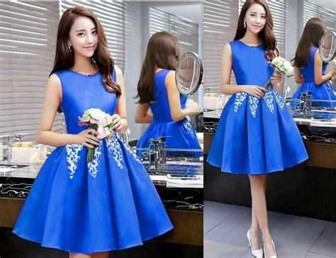 Dress Merah Lengan Buntung Sale baju dress pendek lengan buntung cantik modern model terbaru