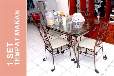 Meja Rias Besi Tempa pindahan jual cepat 1 set furniture besi tempa meja