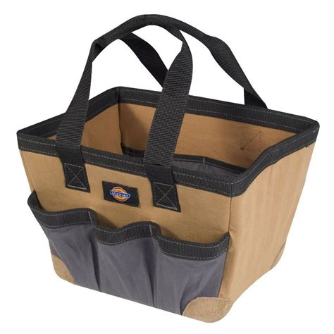 husky 10 5 in 10 pocket suede leather carpenter tool bag
