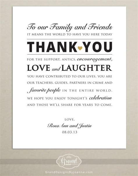 Https Apracticalwedding Wedding Thank You Card Wording Template by Wedding Reception Thank You Card Wedding Thank You Sign