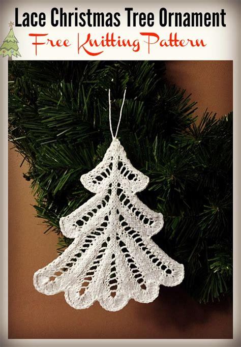 lace christmas tree ornament free knitting pattern