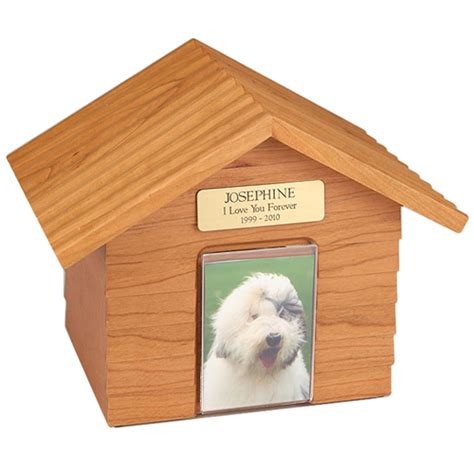 dog house urn pet urn k 9 cottage urns oak