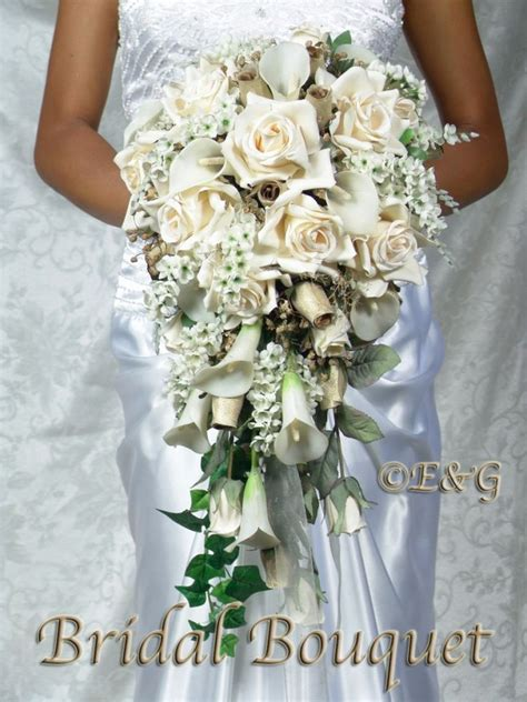 Pre Made Bridesmaid Bouquets by Beautiful Gold Bouquet Wedding Bouquets Bridal