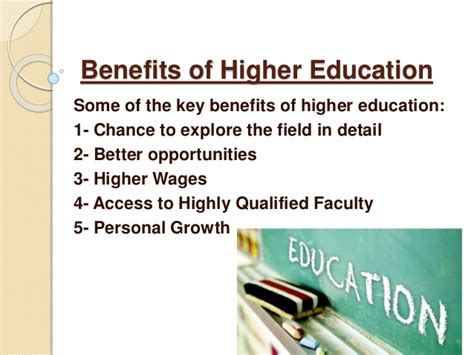 Higher Education Essay by Essay About Benefits Of Higher Education The Benefits Of A College Education Are Numerous