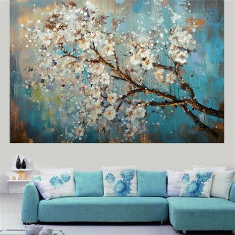 living room canvas handpainted modern abstract flower canvas art decoration