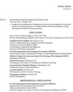 Resume Organizational Skills Exles by Resume For Organizational Development Susan Ireland Resumes