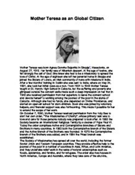 mother teresa a biography pdf mother teresa biography in hindi pdf download mother