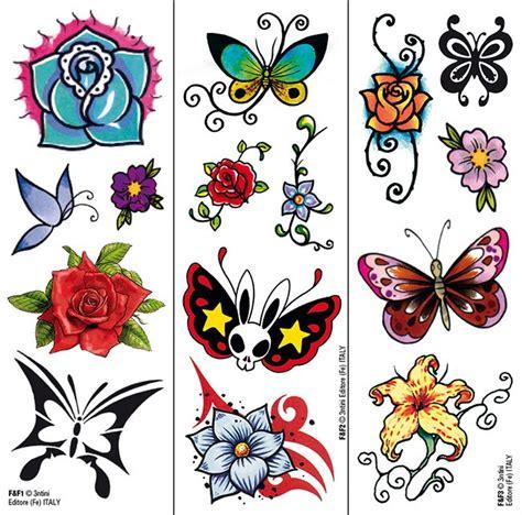 tatuaggi farfalle fiori e stelle farfalle e fiori trasferibili