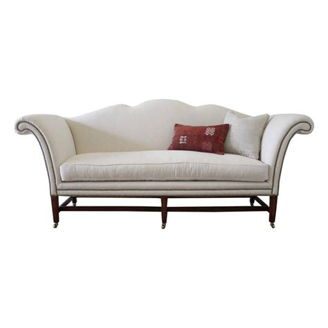 antique chippendale sofa vintage chippendale style sofa upholstered in
