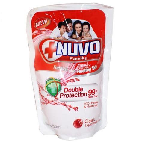 Sabun Nuvo Cair 450 Ml nuvo liquid soap pouch merah 450ml