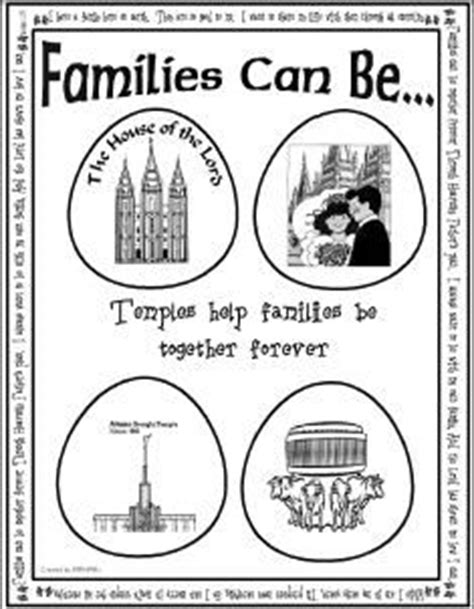 lds coloring pages families can be together forever lds program covers for baptisms sacrament meetings church