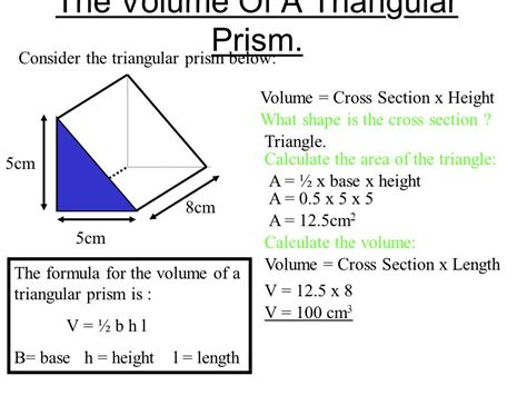 cross sectional area of a triangle volume ppt video online download