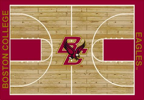 basketball court rug college basketball court boston college 100 stainmaster stain protection machine made