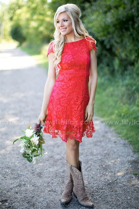 Bridesmaid Dresses For Small Bust - bridesmaid lace fit and flare mini dress bust in small