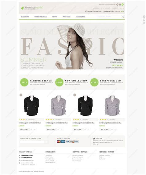 clothing site themes 40 top magento ecommerce themes