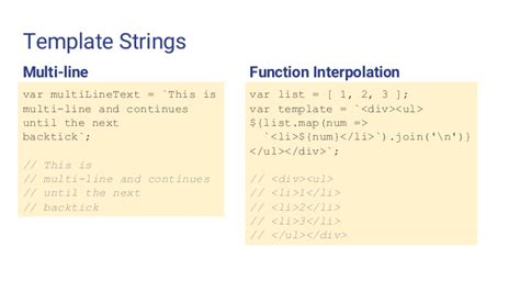 es6 template strings the beautiful simplicity of es2015