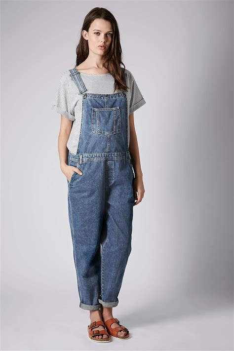 Missguided Maternity Dungarees by Topshop Maternity Moto Denim Leg Dungarees In Blue Lyst