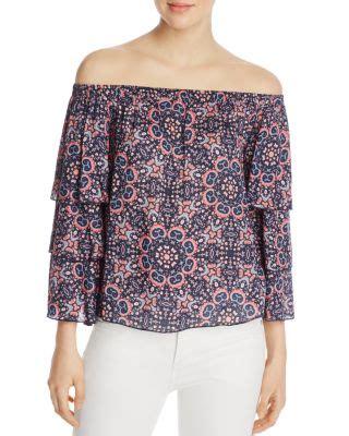 Blouse Minori ella moss minori mosaic shoulder blouse blackberry modesens