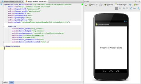android studio edit layout xml android hello world exle sunny sultan personal blog