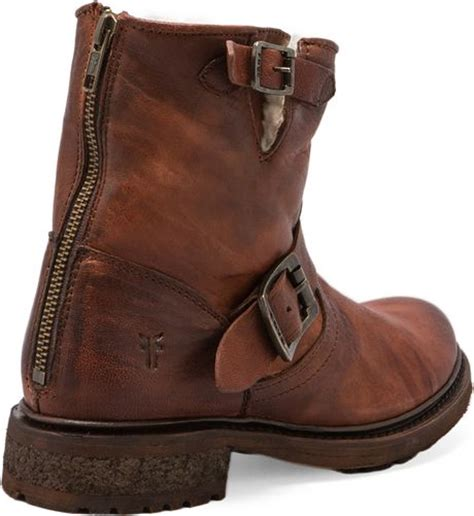 frye valerie shearling boots frye valerie 6 motorcycle shearling lined boot in