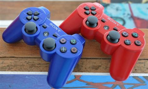 Red And Blue Color Ps3 Controllers Coming To Usa In