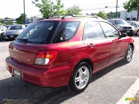 red subaru sedan 2003 sedona red pearl subaru impreza 2 5 ts wagon