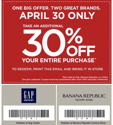 printable outlet coupons banana republic outlet coupon printable