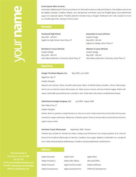creative resume format the world s catalog of ideas